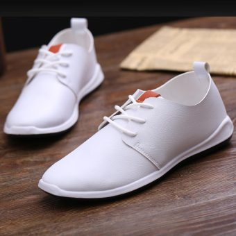 Stylish breathable shoes men's shoes (White)