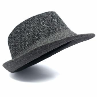 Stylish Fedora Hat Fedora Cap Trilby Hat Sun Protection Cap PlainGrey Unisex Price Philippines