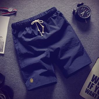 Stylish guy's Stylish men's Slim fit in pants casual shorts (Dark blue color)