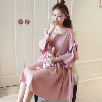 Stylish mummy Korean-style Plus-sized autumn and dress Top long-sleeved doll