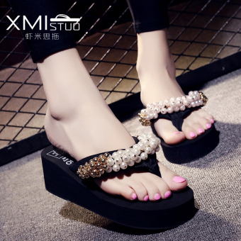 Stylish Pearl flip-flop women's sandals and slippers shoes slippers