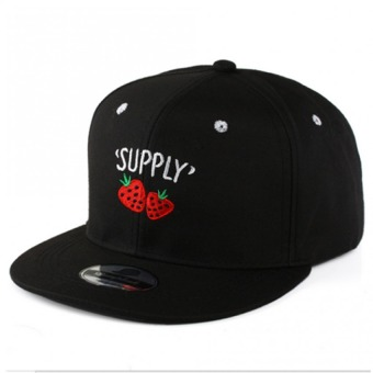 Stylish Snapbacks Unisex Hip-hop Hats Sunscreen Caps -StrawberryBlack - Intl