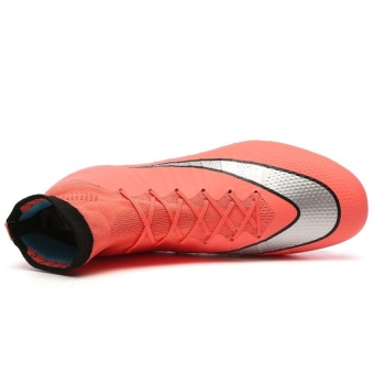SuFei Superfly Soccer Shoes FG High Ankle Football BootsOutdoorTraining Soccer Cleats Orange - 3