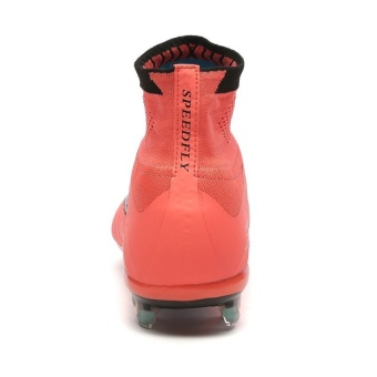 SuFei Superfly Soccer Shoes FG High Ankle Football BootsOutdoorTraining Soccer Cleats Orange - 5