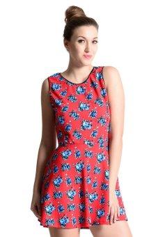 Sugar Clothing Claudia 2 Tunic Dress (Multicolor/Rose)