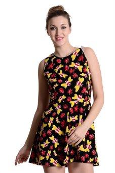 Sugar Clothing Claudia 3 Tunic Dress (Multicolor/Rose)