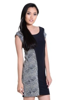 Sugar Clothing Misty Midy Dress (Black/White)
