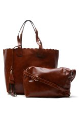 Sugar Thea Tote with Sling Bag (Brown)
