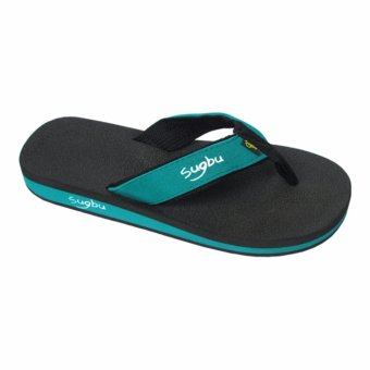 Sugbu Baclayon Mens Slipper Sandal by Islander Footwear (BlueGreen)