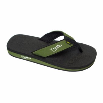 Sugbu Baclayon Mens Slipper Sandal by Islander (Green)