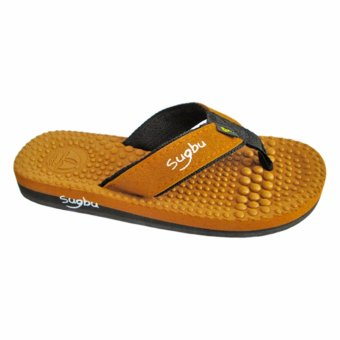 Sugbu Choi Mens Slipper Sandal Flip Flop by Islander (Tan)