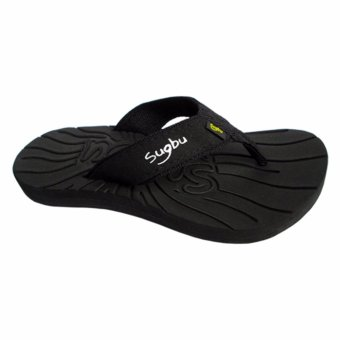 Sugbu Isog Sandals Mens Slippers by Islander (Black)