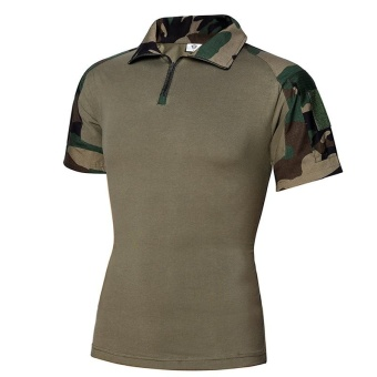 Summer Camouflage T Shirt Men Army Combat Military Uniform TacticalT-Shirt Quick Dry Camo Short Sleeve Tees - CAMO1 - intl
