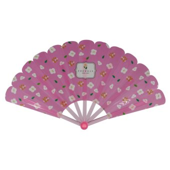Summer Collection Foldable Hand Fan-Flower (Pink)