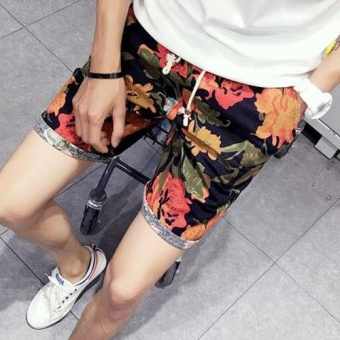 Summer Drawstring Loose Sport Beach Shorts for Men - intl Price Philippines