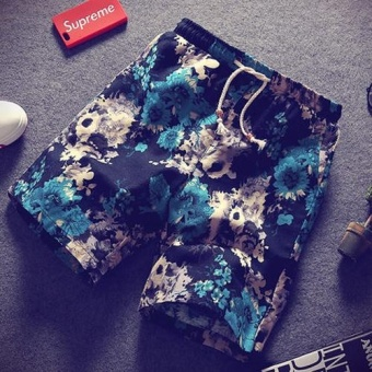 Summer Drawstring Loose Sport Beach Shorts for Men - intl
