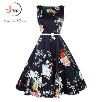 Summer Dress 2017 Audrey Hepburn Women Retro Vintage 1950s 60sRockabilly Floral Swing Summer Dresses Elegant Tunic VestidosWQ0980 897 - intl