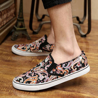 Summer Fashion Classical Pattern Shoes - Black - picture 2