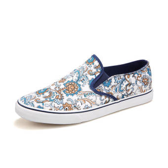 Summer Fashion Classical Pattern Shoes - White