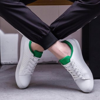 Summer fashion Shoes Sports Shoes Men' S Comfortable Casual ShoesSimple White Shoes Flat Shoes Light Shoes Walking Shoes(green) -intl - 2