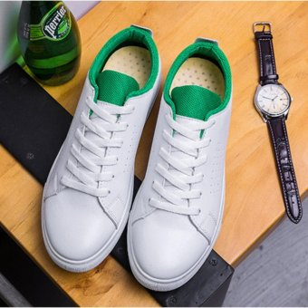 Summer fashion Shoes Sports Shoes Men' S Comfortable Casual ShoesSimple White Shoes Flat Shoes Light Shoes Walking Shoes(green) -intl - 3