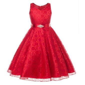 Summer Flower Girl Dress Top Baby Princess Dresses for Girls Wedding Party Vestidos Infantis Kid Girls Clothes - intl - 3