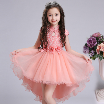 Summer girls dress children's princess dress New style women Cheongsam