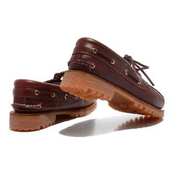 Summer Men's Timberland 3-Eye Classic Lug Shoes Burgundy Pull-Up50009 EU40-45 - intl - 4