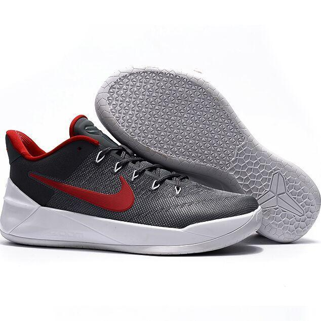 Summer Sports Sneakers For Zoom Kobe 12th AD Basketball Shoes Men(Grey/Red) - intl - 2