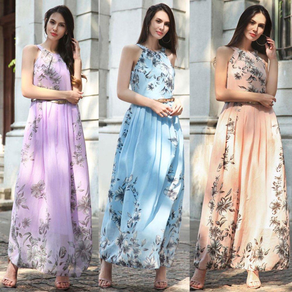 Philippines | Summer Style Women New Fashion Long Maxi Dress O Neck ...