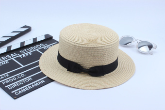 SUN Korean-style small chili Cooljie hat small hat (Flat Top Cooljie small hat beige)