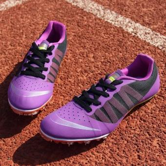 Sunshine Track Sports Running Shoes Spike Spikes Athletics Training Shoes Lelaki Berjalan Kasut - Purple - intl - 2