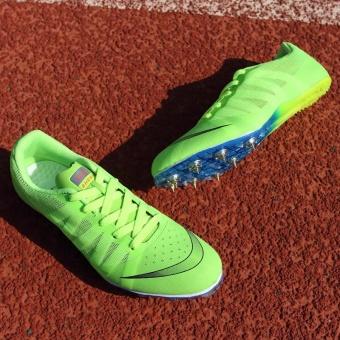 Sunshine Track Sports Running Shoes Spike Spikes Athletics TrainingShoes Lelaki Berjalan Kasut -Fluorescent Green - intl - 2