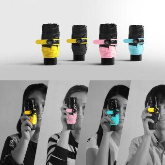 Super Mini Compact Travel ultra-small phone pocket sun fold UVumbrella - intl - 4