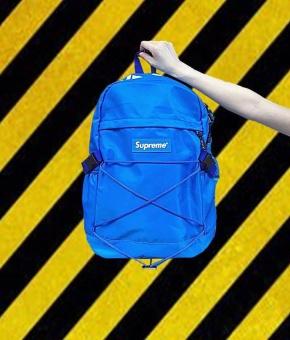 Supreme Backpack Ulzzang Bag European and American Tide Card DeadFly Retro Street Skateboard Backpack(Black) - intl - 3