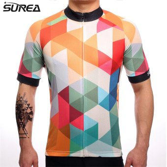 SUREA 2017 Cycling Sets Reflective Cycling Clothing/mtb MountainRopa Ciclismo KTM uniform Summer Cycling Jersey men X39-01 - intl Price Philippines