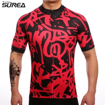 SUREA 2017 New Fabric Summer Men Quick Dry Cycling Jersey/ShortsSet Mtb Breathable Bicycle Clothing Short Sleeve Cool Bike ClothesDT-28 - intl - 3