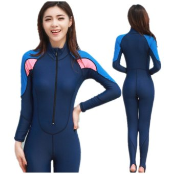 Surfing Wetsuit Men Surf Suit Women Wet Suit For Swimming Diving Swimsuit Rash Guard Swimwear Wetsuits Spearfishing- Pink And Blue - intl
