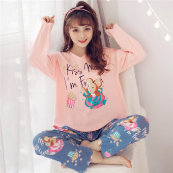 Sweet cotton women girl's tracksuit pajamas (Small Mouse)