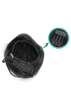 Synthetic Fiber Hair Bun (Bright Black) - picture 2