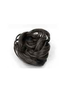 Synthetic Fiber Hair Bun Scrunchie (Natural Black) - picture 2
