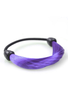 Synthetic Fiber Hair Rope Holder (Purple)