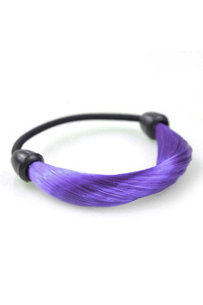 Synthetic Fiber Hair Rope Holder (Purple) - picture 2