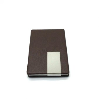 SYNTHETIC LEATHER CARD HOLDER (brown) with FREE LD LACE