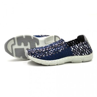 Tanggo 1106 Men's Lightweight Breathable Slip-Ons Handmade Shoes Casual Sneakers (Navy Multi) - picture 2