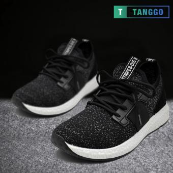 Tanggo 1979 Korean Fashion Sneakers Breathable Canvas Shoes for Men (black)