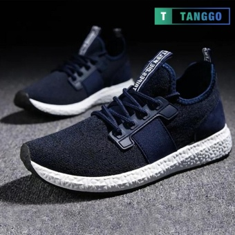 Tanggo 1979 Korean Fashion Sneakers Breathable Canvas Shoes for Men (navy blue)