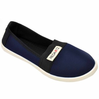 Tanggo 2016-11 Women's Flat Shoes Casual Slip Ons Shoes (Navy Blue)