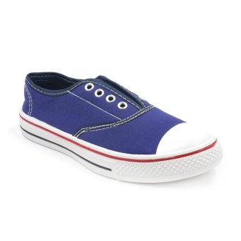 Tanggo 9998-09 Flat Shoes Sneakers Slip-On Women's Fashion Shoes(navy blue)