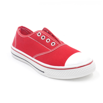 Tanggo 9998-09 Flat Shoes Sneakers Slip-On Women's Fashion Shoes(red)